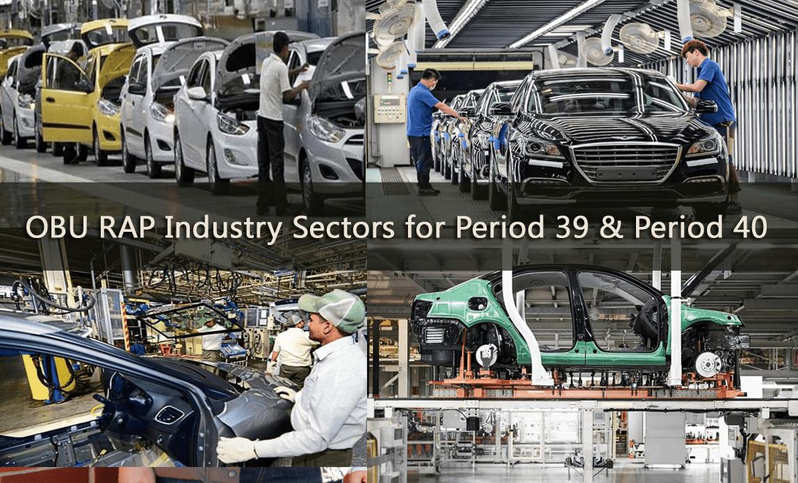 OBU RAP Industry Sectors for Period 39 & Period 40 2019/2020