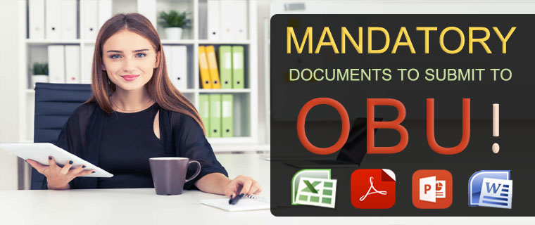 What Documents Do I Need to Submit to OBU? Period 38/2019