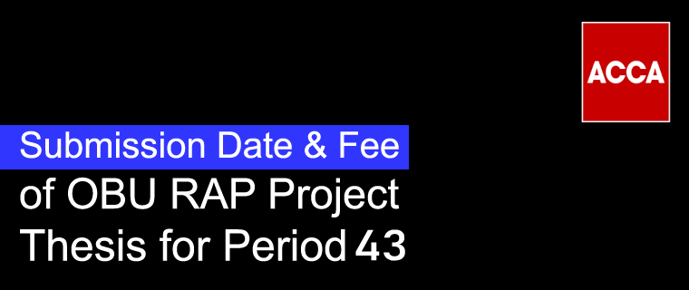 OBU Submission Dates/Deadline and Submission Fee - Period 43